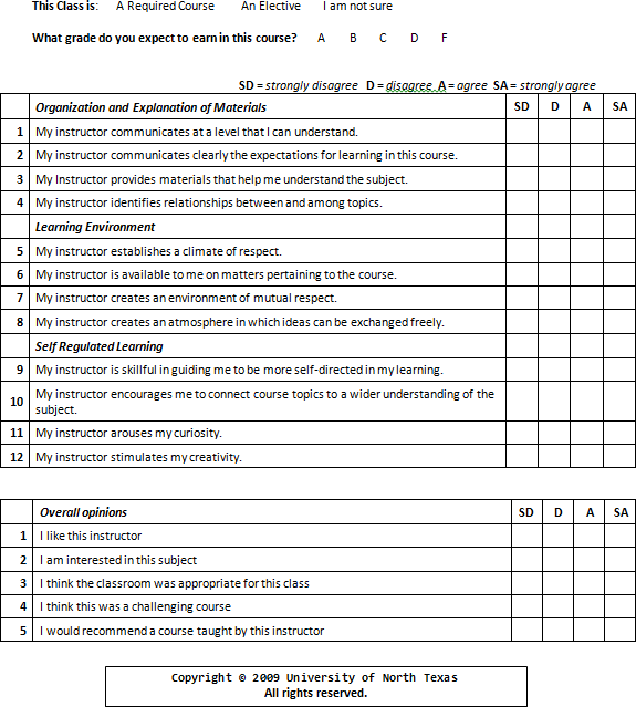 Unit Assessment Like to the Lark at Break of Day Arising – Student Evaluation Forms